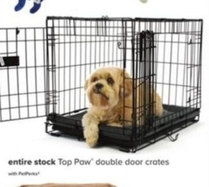 Entire Stock of Top Paw Double Door Crates