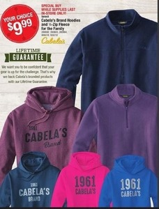 Cabela's Brand Hoodies for the Family