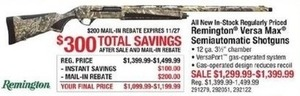 Remington Versa Max Semiautomatic Shotguns - After Rebate