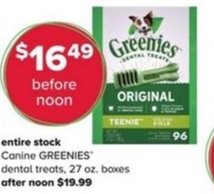 Entire Stock Canine Greenies Dental Treats
