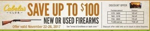 Cabela's Club - Save Up to $100 New or Used Firearms