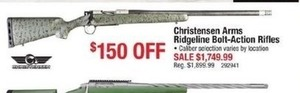 Christensen Arms Ridgeline Bolt-Action Rifles