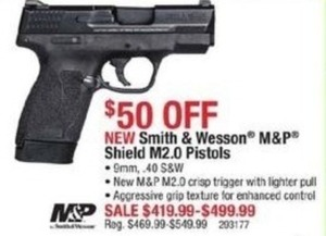 Smith and Wesson M&P Shield M2.0 Pistols