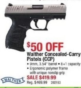 Walther Concealed-Carry Pistols