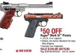 Ruger Mark IV Pistols