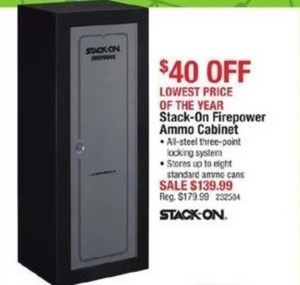 Stack-On Firepower Ammo Cabinet