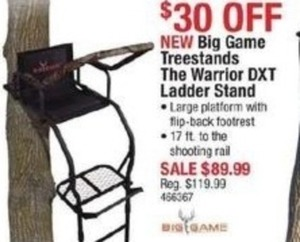 Big Game Treestands The Warrier DXT Ladder Stand