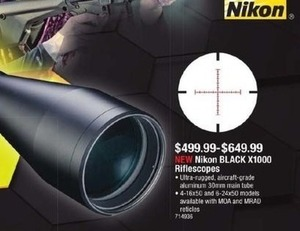 Nikon Black X1000 Rifescopes