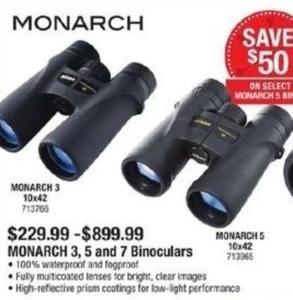 Monarch 3, 5, & 7 Binoculars