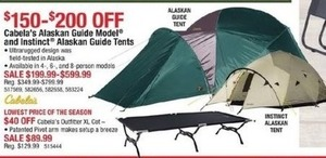 Cabela's Alaskan Guide Model and Instinct Alaskan Guide Tents