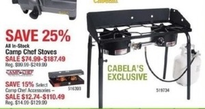 All In-Stock Camp Chef Stoves & Accessories