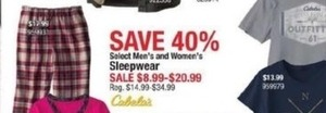 Select Men's & Women's Sleepwear