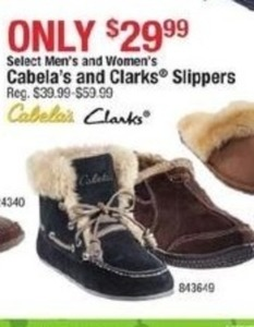 Cabala's & Clarks Slippers