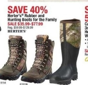 Herter's Rubber and Hunting Boots for the Family