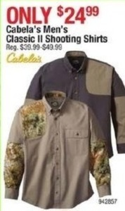 Cabala's Men's Classic II Shooting Shirts