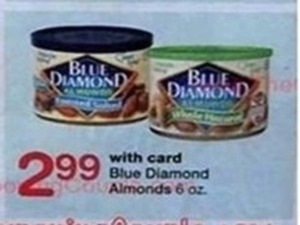 Blue Diamond Almonds 6oz with card