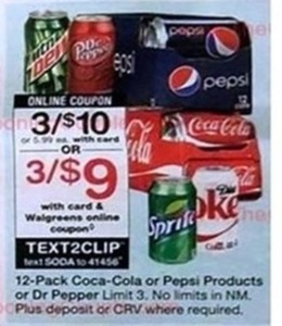 12 pack Coca-Cola or Pepsi Products w/ Card