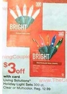 Living Solutions Holiday Light Sets w/ Card
