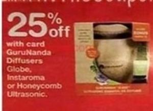 GuruNanda Diffusers, Globe, Instaroma, or Honeycomb Ultrasonic w/Card