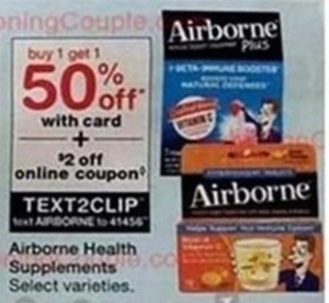 Airborne Health Supplements, Select Varieties
