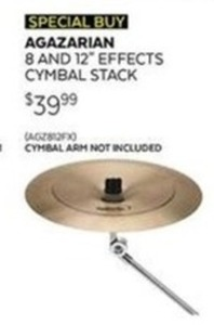 "Agrarian 8 & 12"" Effects Cymbal Stack"