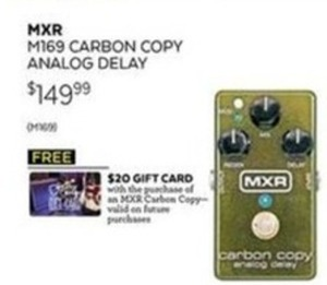 MXR M169 Carbon Copy Analog Delay Pedal + $20 Guitar Center Gift Card