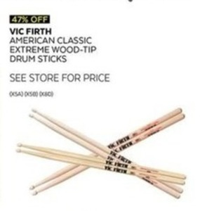 Vic Firth American Classic Extreme Wood-Tip Drum Sticks