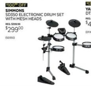 Simmons SD350 Electronic Drum Set w/ Mesh Heads
