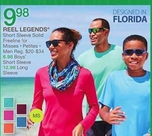 Reel Legends Short Sleeve Solid Freeline