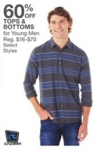 Tops and Bottoms for Young Men