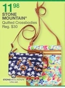 Stone Mountain Quilted Crossbodies