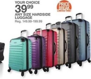 Any Size Hardside Luggage