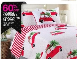 Holiday Bedding & Decorative Pillows