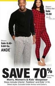 Men's Women's & Kids Sleepwear