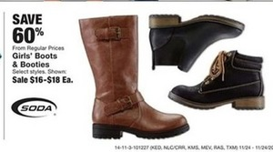 Soda Girls' Boots & Booties