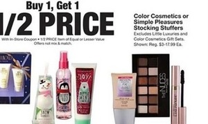 Color Cosmetics or Simple Pleasures Stocking Stuffers