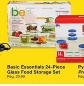 Basic Essentials 24 Piece Glass Food Storage