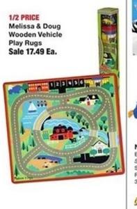 Melissa & Doug Wooden Vehicle Play Rugs