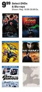 Select DVDs and Blu-rays