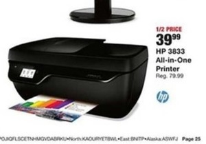 HP 3833 All-in-One Printer