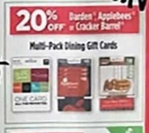 Multi-Pack Dining Gift Cards