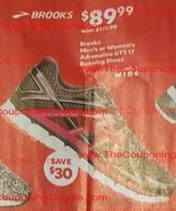 Brooks Men's or Women's Adrenaline GTS 17 Running Shoes
