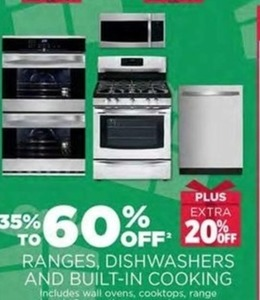 Ranges, Dishwashers And Built-In Cooking