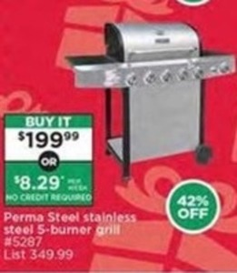 Perma Steel Stainless Steel 5-Burner Grill