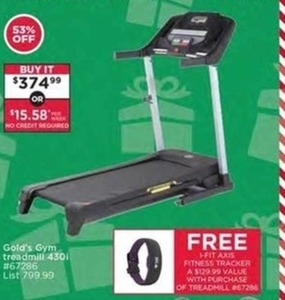 Gold's Gym Treadmill w/ Free i-Fit Axis Fitness Tracker