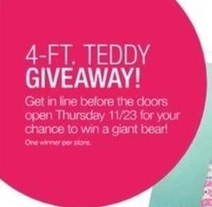 Get In Line Before Doors Open Thursday for a Chance to Win a Giant Bear