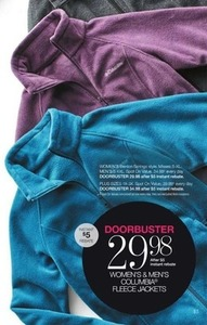Women's and Men's Columbia Fleece Jackets After Rebate