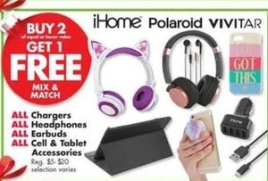 Chargers, Headphones, Earbuds, Cell & Tablet Accessories