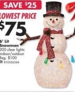 6' Lit Snowman
