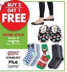 Entire Stock of Socks & Leggings